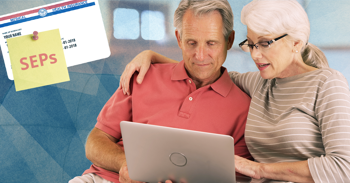 couple on laptop; medicare enrollment periods