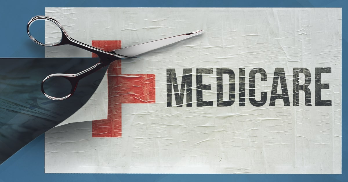 medicare sign cut; cuts to medicare and social security