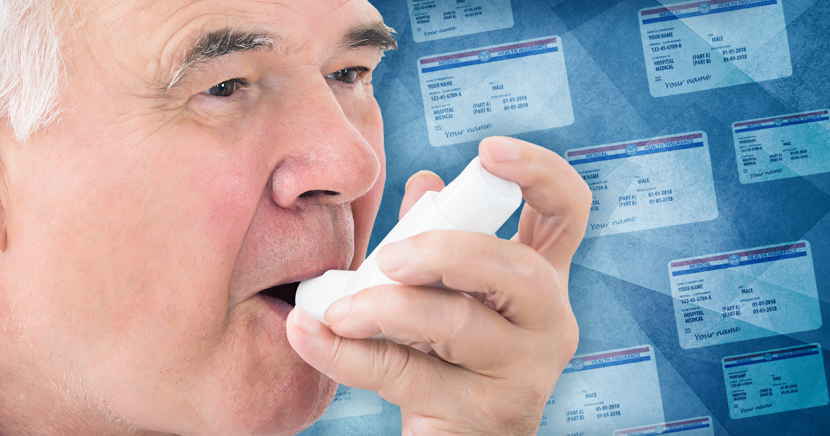man using asthma inhaler, Medicare Part D, asthma inhalers, Medicare coverage