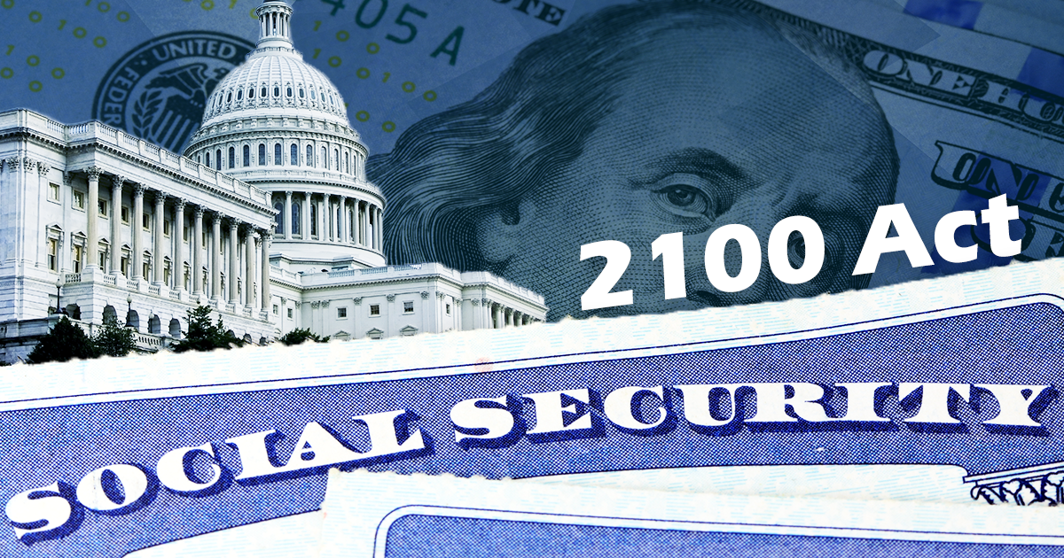 social security 2100 act next to capitol building