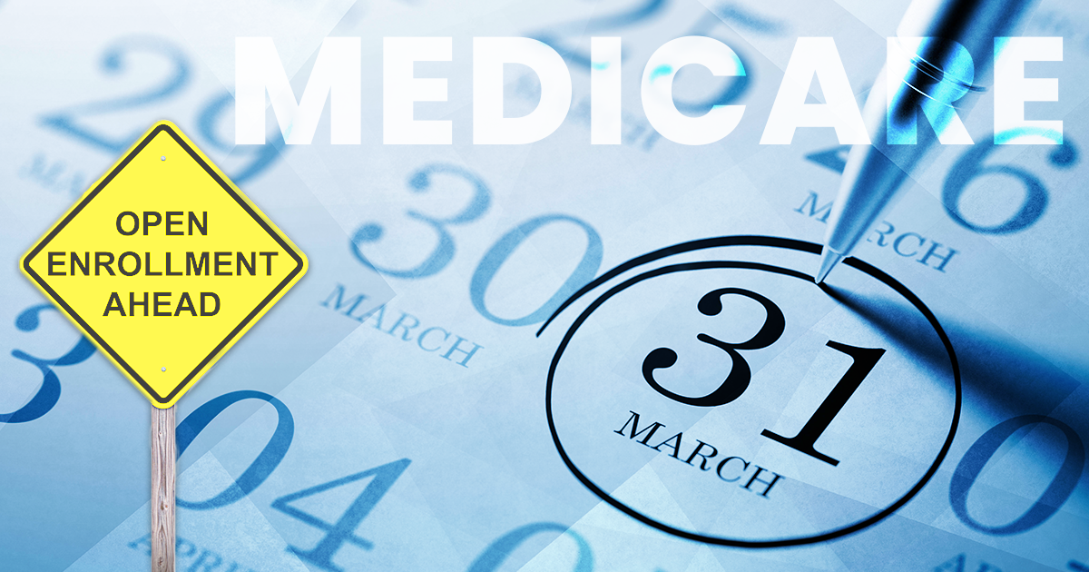 medicare enrollment period; 31 circled on calendar