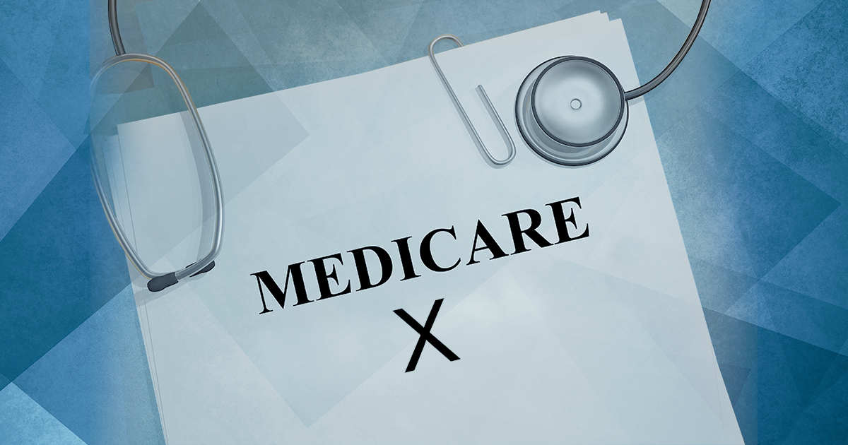 papers titled medicare x with stethoscope