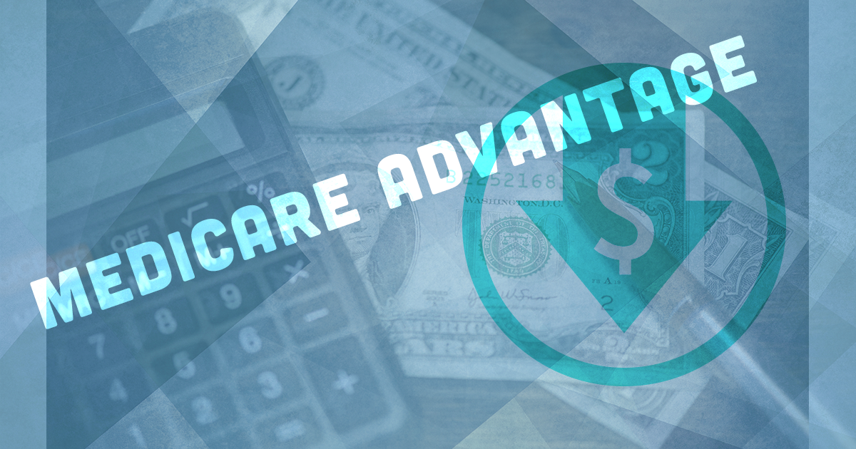Medicare Advantage with calculator and money; medicare advantage plans save money