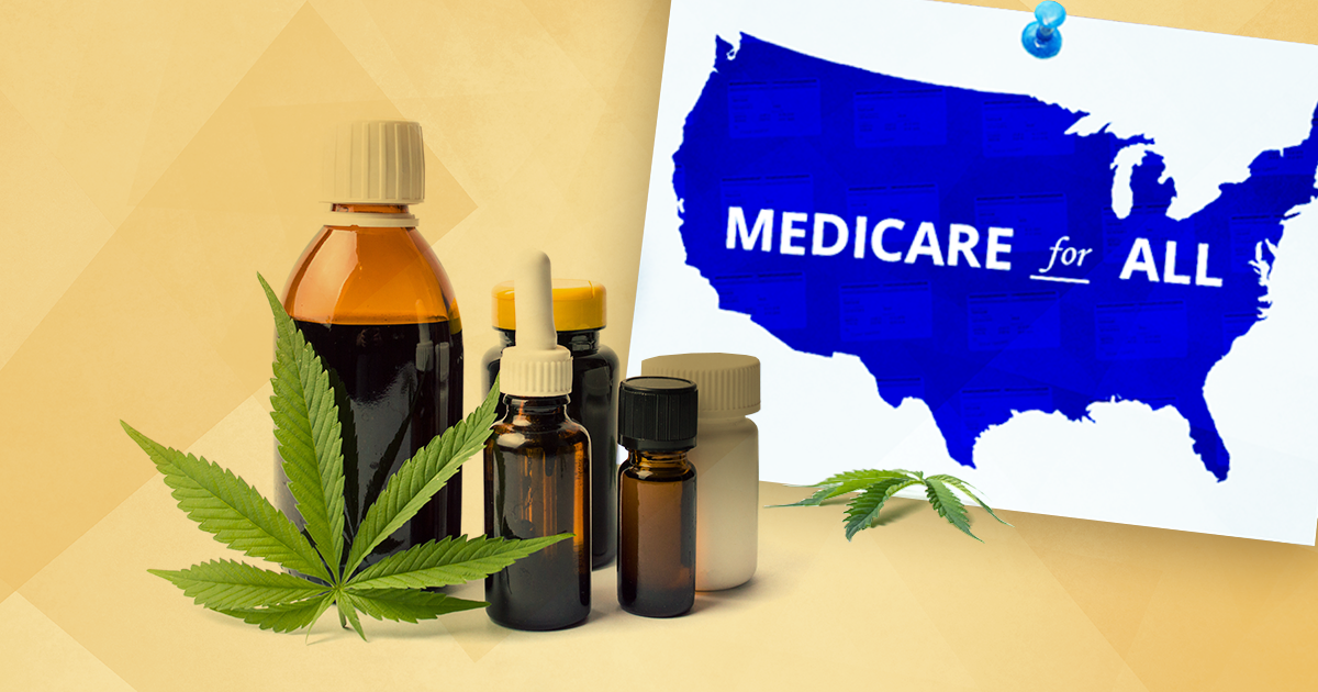 medical marijuana next to medicare for all map